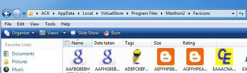 Compatibility Files toolbar button Windows 7