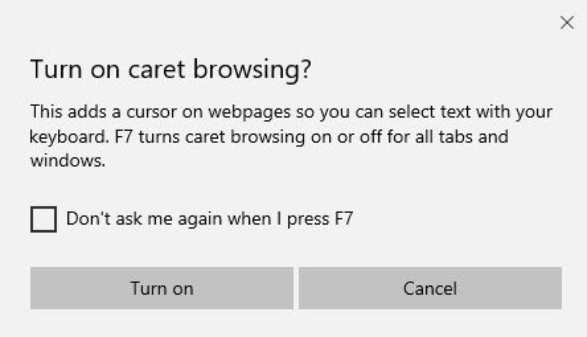 What is Caret Browsing? How do you use it in Edge or Internet ...