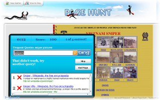 bing page hunt