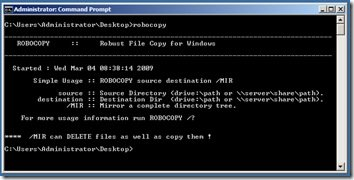 robocopy Robocopy in Windows 7 & Microsoft Robocopy GUI