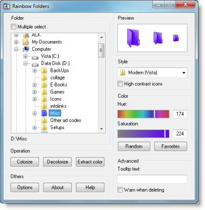 how to change color folder outlook