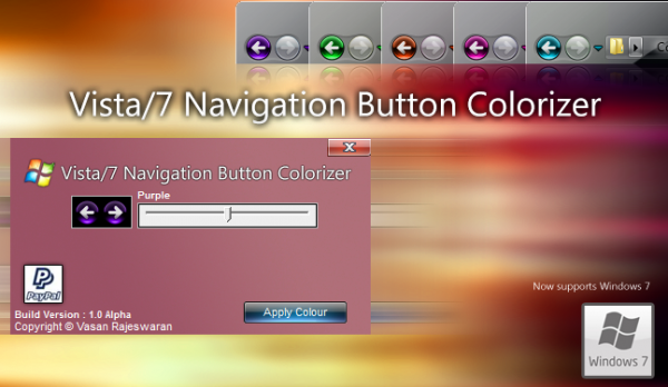 vista 7 colorizer 600x348 Change the color of Windows 7 & Vista explorer navigation button