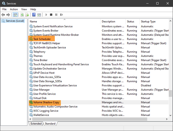 System Restore Points being deleted on reboot
