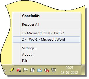 Reopen accidentally closed folders