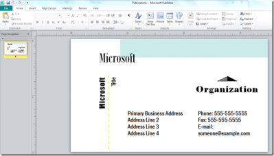 Design create a business card using microsoft publisher create a business card using microsoft publisher accmission Images