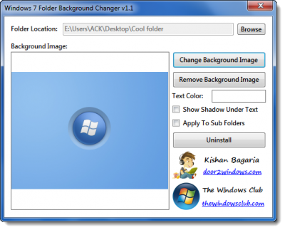 windows 7 folder background changer 400x323 Windows 7 Folder Background Changer Released