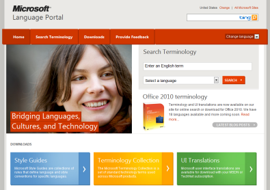 Search and Download International Terminology  Microsoft
