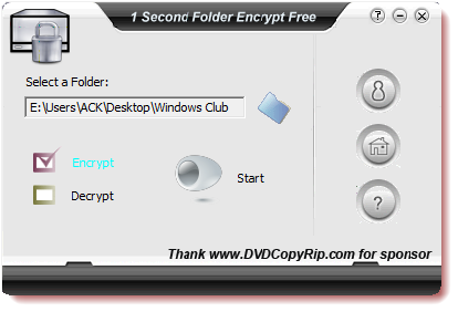 gratis as well as an tardily agency to encrypt your folders inwards Windows  1 Second Folder Encryption freeware for Windows PC