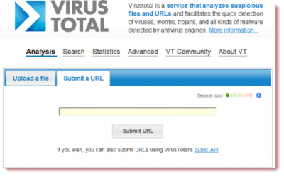 VirusTotal URL scanner and Browser extensions