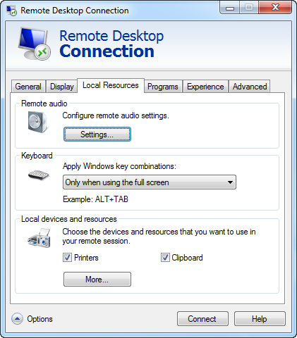 Use Devices and Resources in a Remote Desktop Session