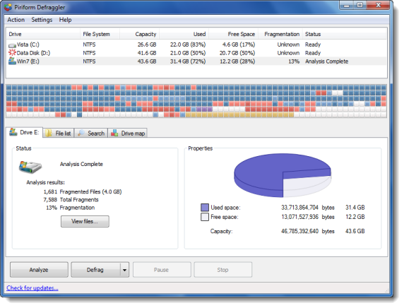 best free defrag software for windows 7