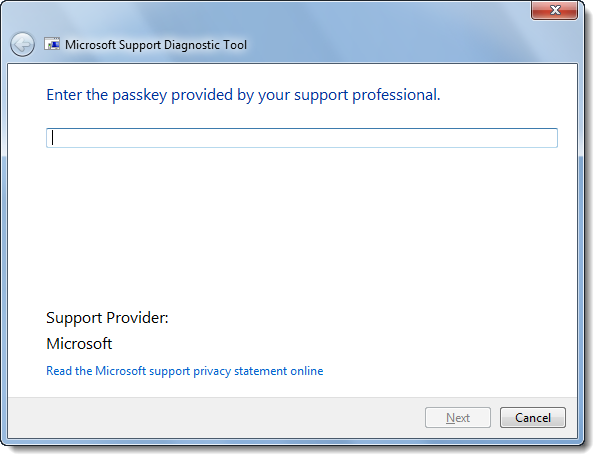 Microsoft Support Diagnostic Tool