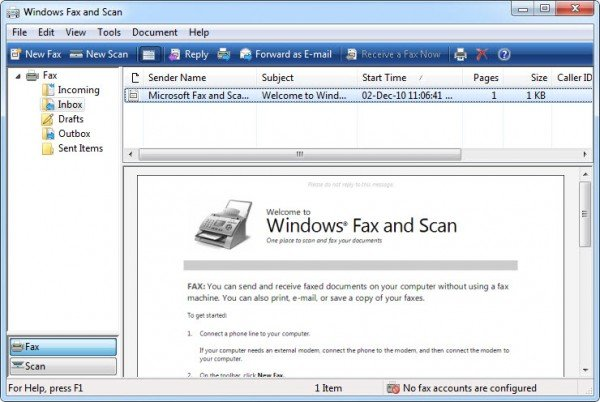 How to send and receive Fax in Windows 10