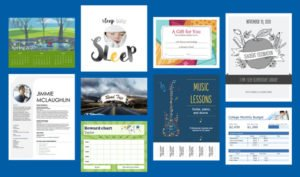Word, Excel, PowerPoint, Access, Visio Templates