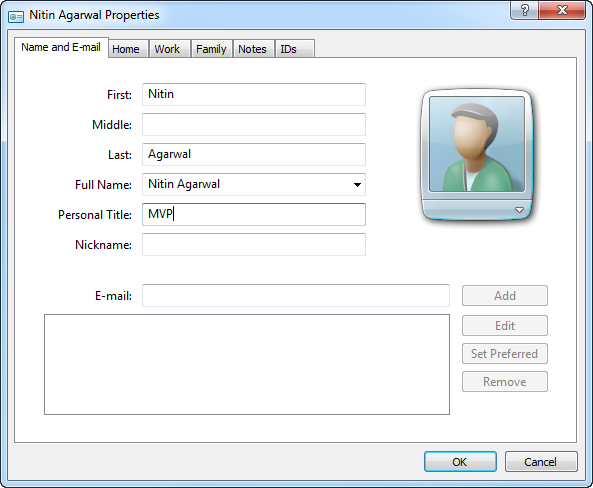 Manage Contacts & Addresses in Windows