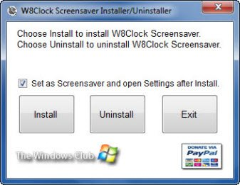 Download Windows 8 Clock Logon Screensaver for Windows 7  W82