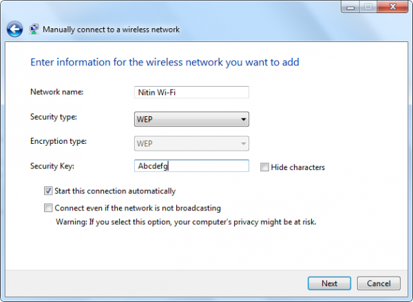 28 Jul 11 12 12 03 PM 600x439 Type of Wireless Network Security keys and how to secure them in Windows 7