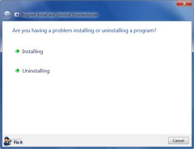Cannot install or uninstall programs in Windows