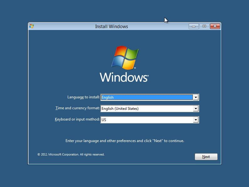 Install Windows 8 : screen Shot tutorial : step-2