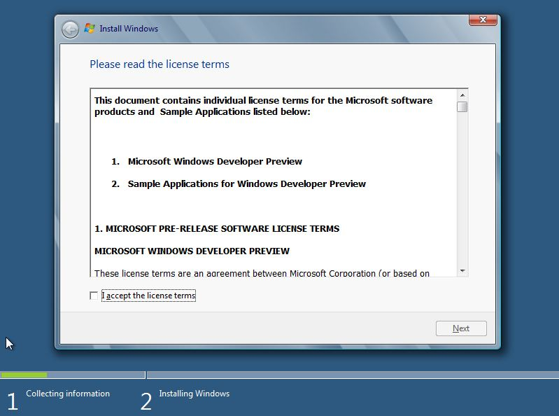 31 Install Windows 8 Developer Preview