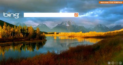 Bing Search home page gets a video wallpaper