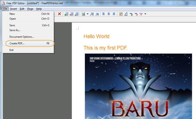 How to Create Free PDF Documents with Portable Freeware