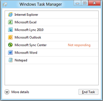 windows 8 task manager 1 Evolution of the Task Manager   From Windows 3 to Windows 8