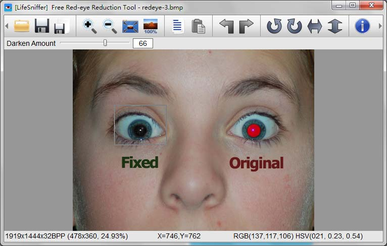 free photo editing software red eye removal