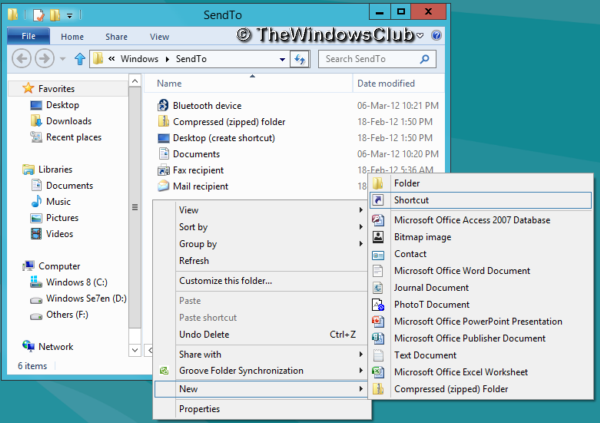 How to add Programs to Quick Launch via Context Menu in Windows 10