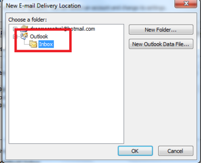 Combine Outlook Inboxes