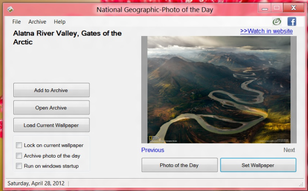 PODNG13 National Geographic Photo of the Day Wallpaper Changer for Windows