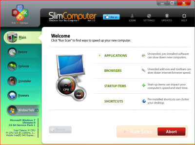 SlimComputer Anti Crapware 400x297 Top Three Free Crapware Removal Software for Windows 7