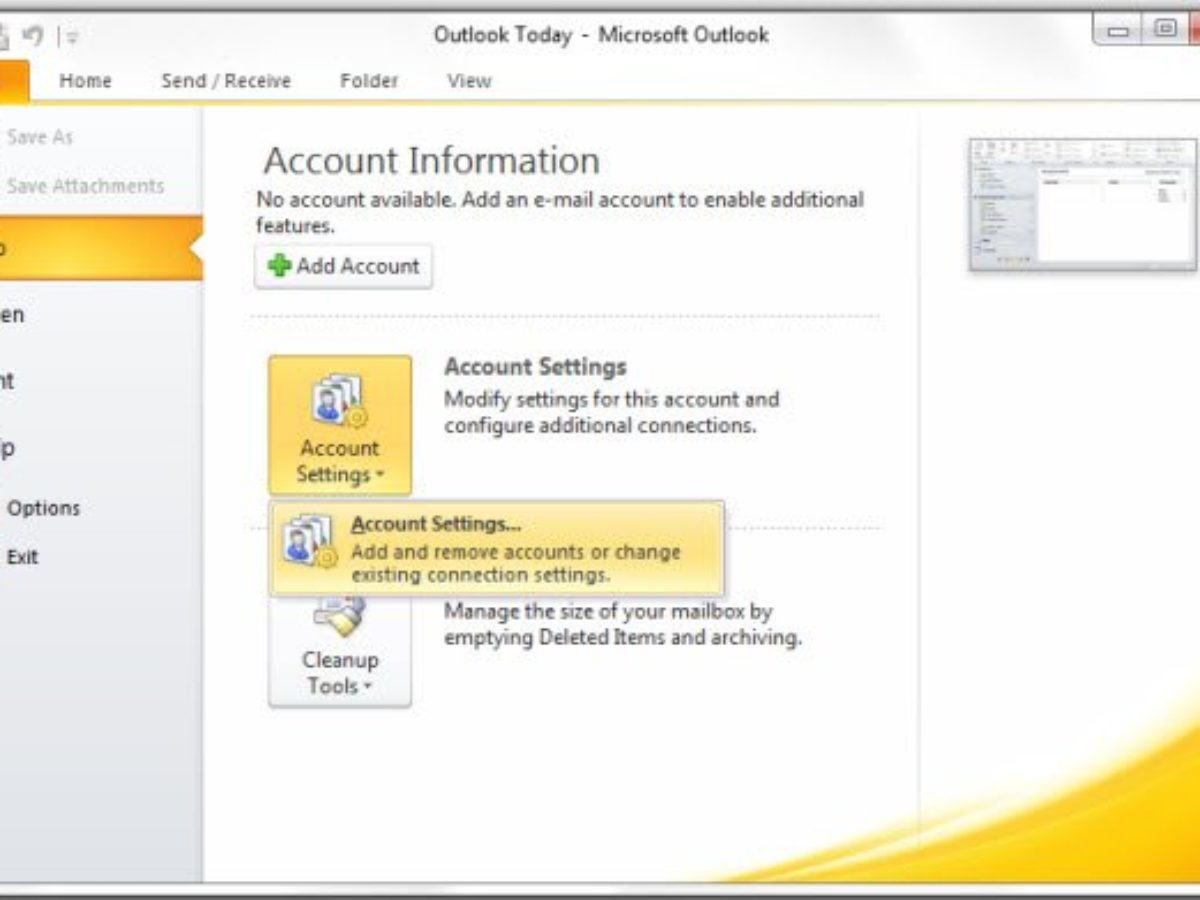 How to combine Outlook Inbox of multiple accounts