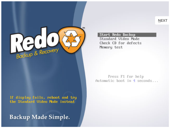 Redo Backup and Recovery tool