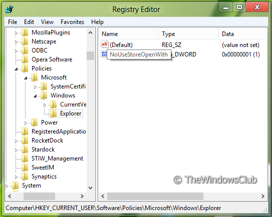 52058 3 Remove Look For An App In The Store option, from Choose Default Program menu in Windows 8