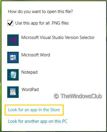 52058 Remove Look For An App In The Store option, from Choose Default Program menu in Windows 8