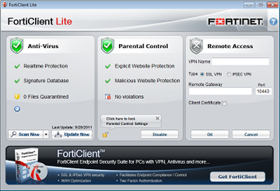 FortiClient Lite Best Free Internet Security Suites for Windows