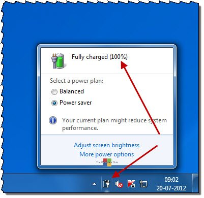 batry fault Fix: Laptop Battery indicator icon showing battery as empty in spite of being full