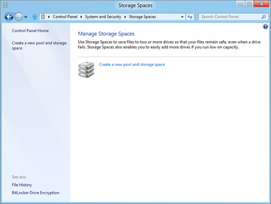 Storage Spaces in Windows 10