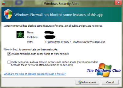 Firewall 400x287 Guide to setting up Multiplayer Gaming on Windows Network