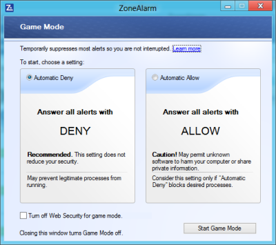 GM 400x355 ZoneAlarm Free Antivirus + Firewall for Windows: Review & Download