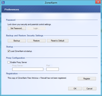 pwd 400x377 ZoneAlarm Free Antivirus + Firewall for Windows: Review & Download