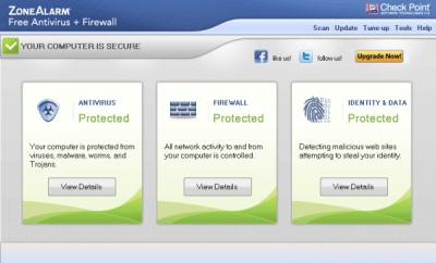 zonalarm free firewall antivirus 400x242 Best Free Internet Security Suites for Windows