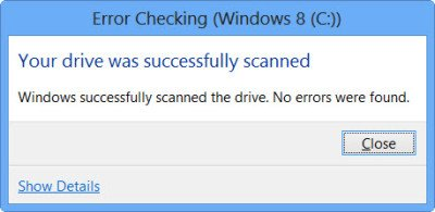 How to run chkdsk in Windows 10
