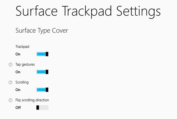 surface trackpad