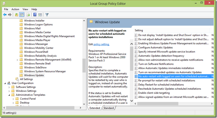 image thumb7 Stop or Prevent Windows 8 from restarting after Windows Updates