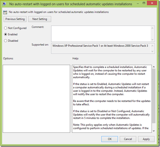 image thumb8 Stop or Prevent Windows 8 from restarting after Windows Updates