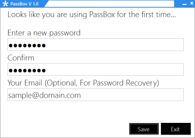 First 400x284 PassBox : Free Password Manager & Generator for Windows 8 | 7
