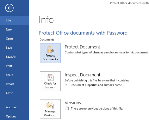 Office document protect