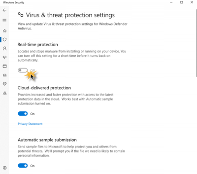 Unable to turn on Windows Defender windows 10